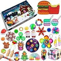 iSayhong Fidget Pack Adventskalender 2021, Kerst Countdown Kalender Fidget Toys Set Pack, Fidget Box Surprise Gifts voor…