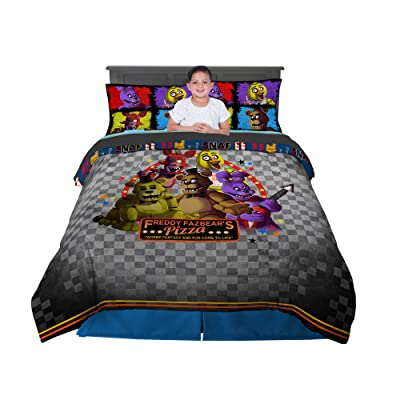 Franco Kids Bedding Comforter and Sheet Set, 5 Piece Full Size, Five Nights at Freddy's: Home & Kitchen