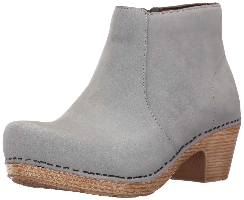 Dansko Women's Maria Boot B01NBPH7D8 39 EU/8.5-9 M US|Light Grey Milled Nubuck