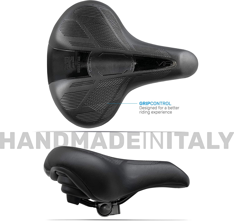 acolchado muy c/ómodo negro//negro suave con abrazadera para montaje incluida anat/ómico Sill/ín para bicicleta con gel ergon/ómico modelo Via City Bike Trekking MTB
