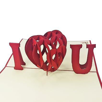 I Heart You - 3d Pop Up Tarjeta - para Love, tarjeta de San ...