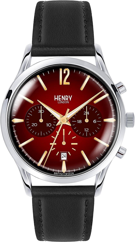 Henry London Reloj Cronógrafo para Hombre de Cuarzo con Correa en ...