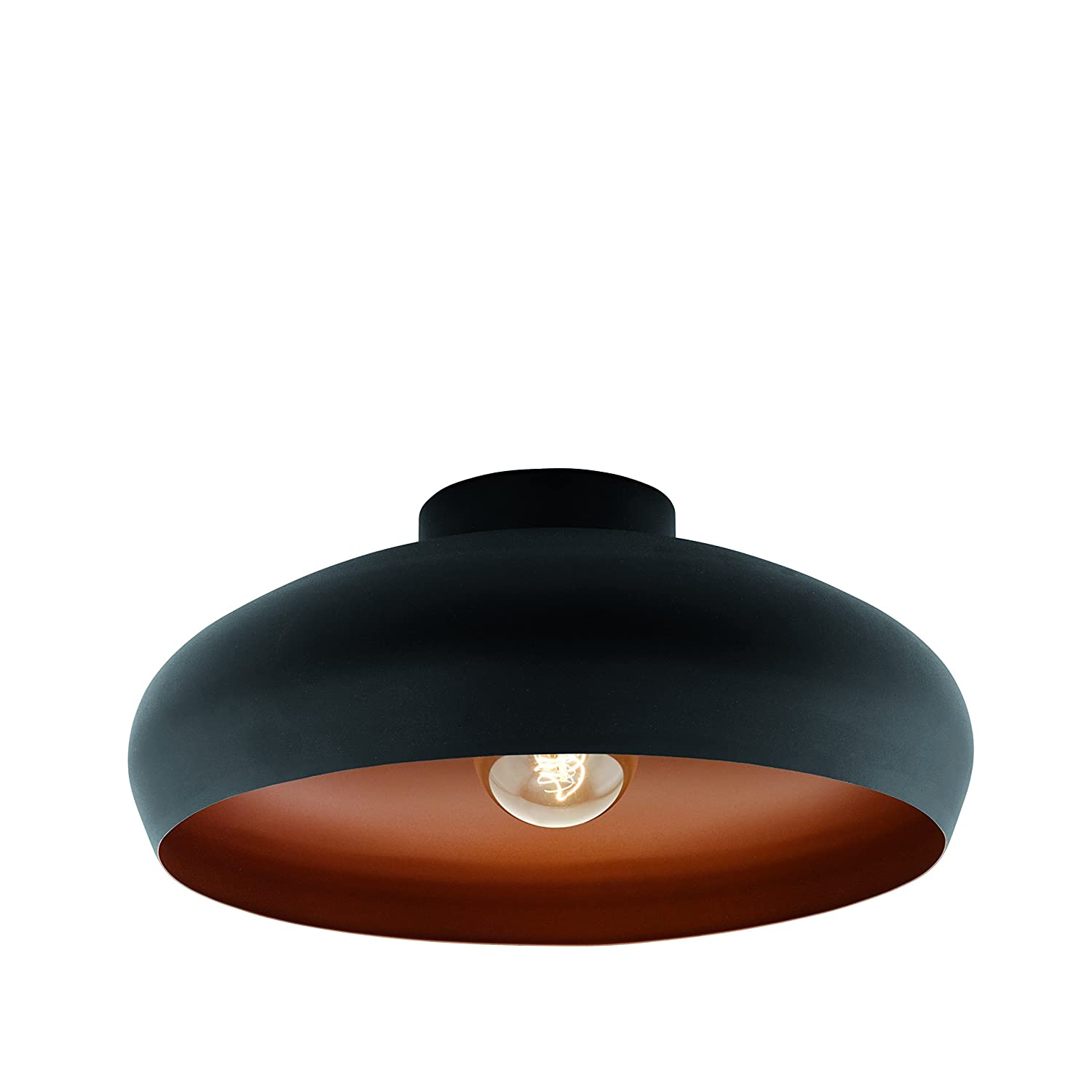 Eglo Mogano Ceiling Light E27 Black, Copper [Energy Class D] 94547