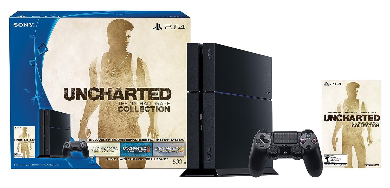 Amazon Com Playstation 4 500gb Uncharted The Nathan Drake