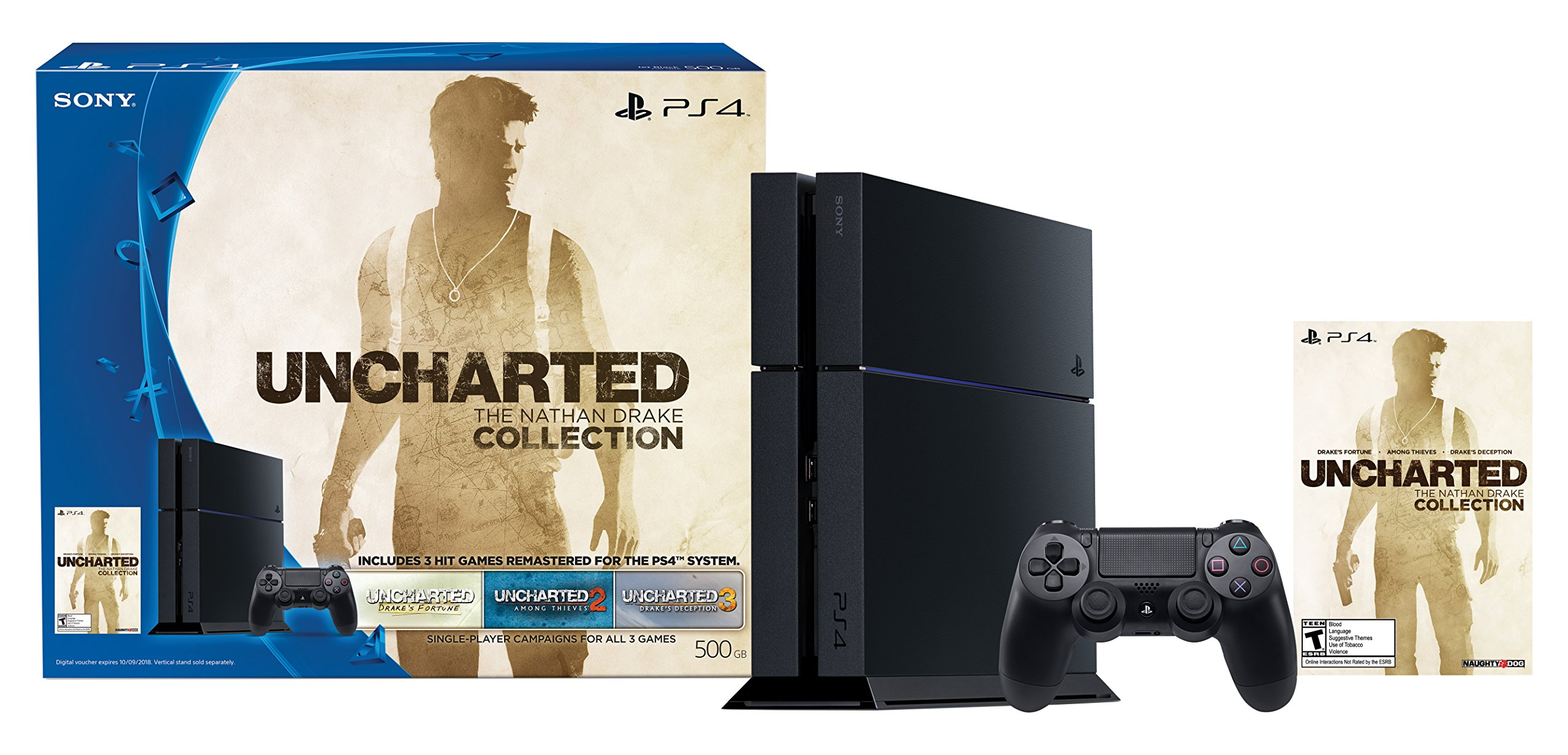 PlayStation 4 500GB Uncharted: The Nathan Drake Collection Bundle (Digital Download Code)[Discontinued]