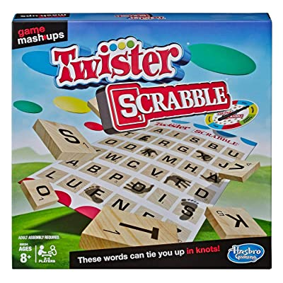 Game Mashups Twister Scrabble Game (Age: 8 Years and Up): Toys & Games