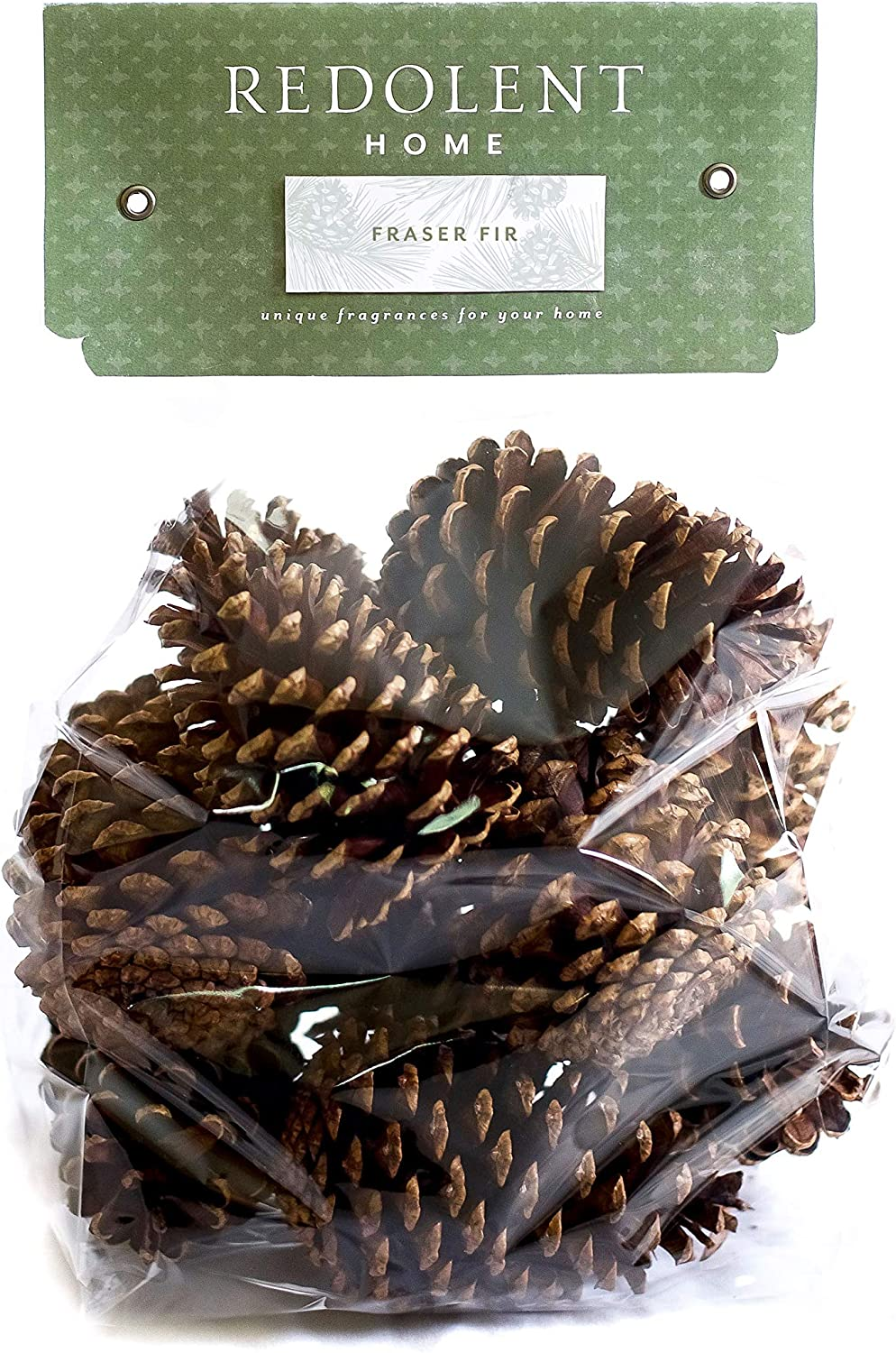 "Fraser Fir Scented Pine Cones - (10) 3"" to 4"" Tall Bulk Package Premium, Bug Free, and Perfect for Crafting for Home Accent Decor Pine Cones - Fraser Fir Fragrance"