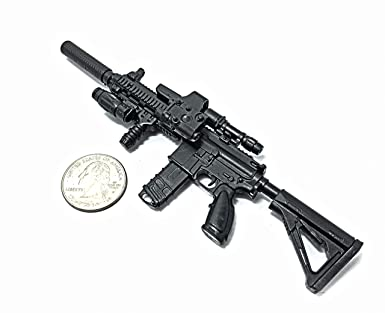 1//6 Black US Army M16 Rifle Model Gun Toys 12/'/' Soldier weapon  Figure toys