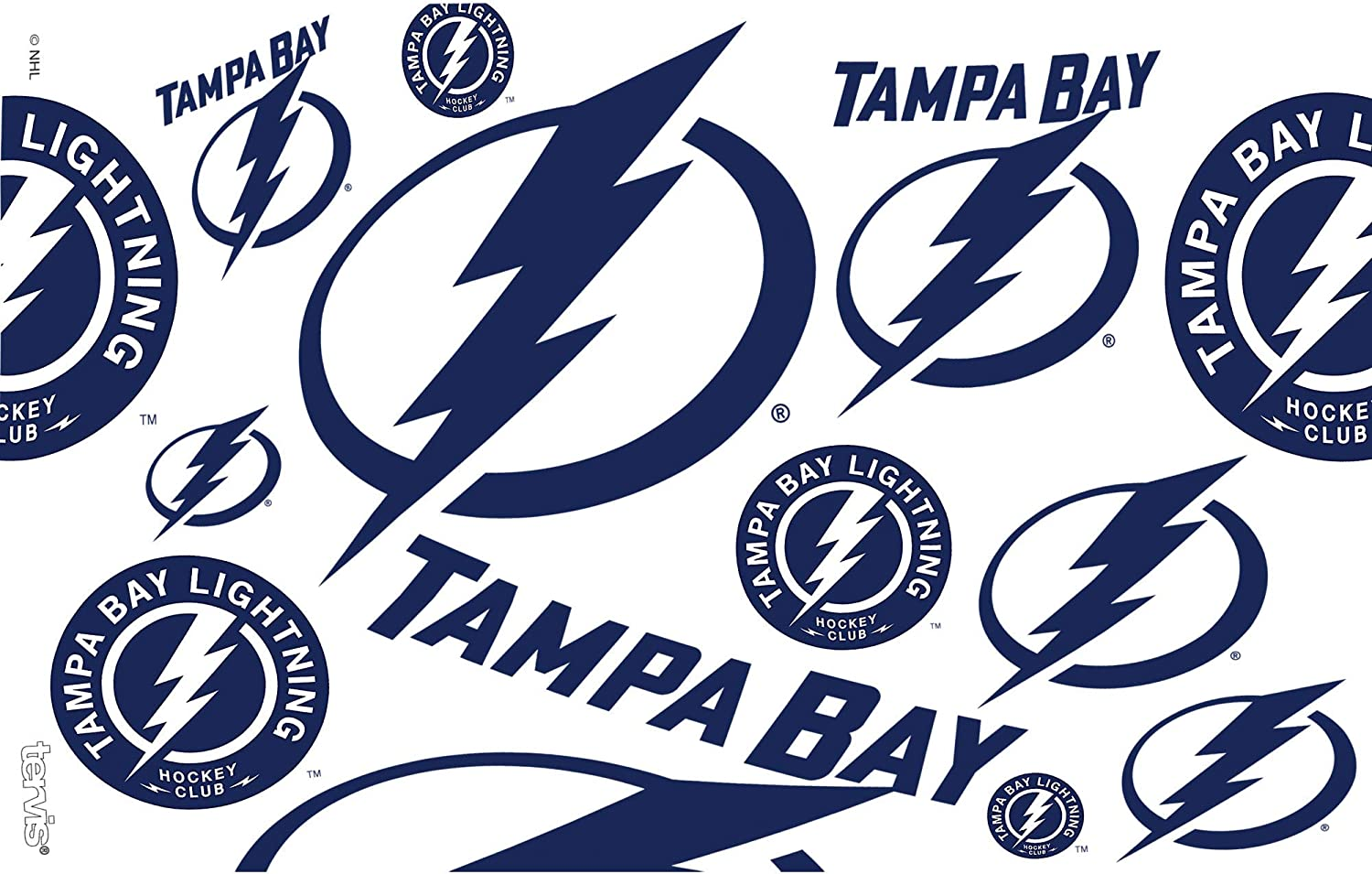 Tervis 1272283 NHL Tampa Bay Lightning All Over Tumbler with Wrap and Navy Lid 16oz Clear