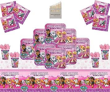 Paw Patrol Pink Party Supplies Niños Cumpleaños Niñas ...