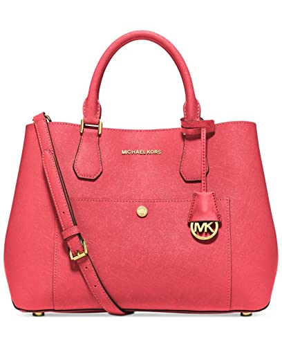 3762e6f1d28e Amazon.com: Michael Kors Watermelon Luggage Large Greenwich Leather Tote  Grab Bag Purse: Shoes