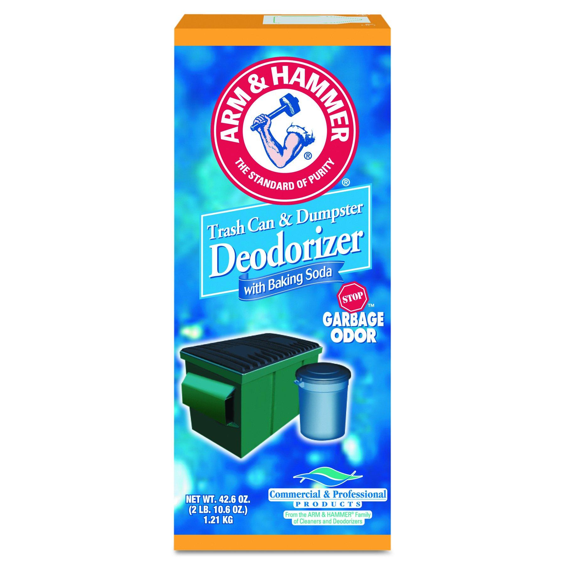 Arm & Hammer 3320084116CT Trash Can & Dumpster Deodorizer, Sprinkle Top, Original, Powder, 42.6 oz (Case of 9)