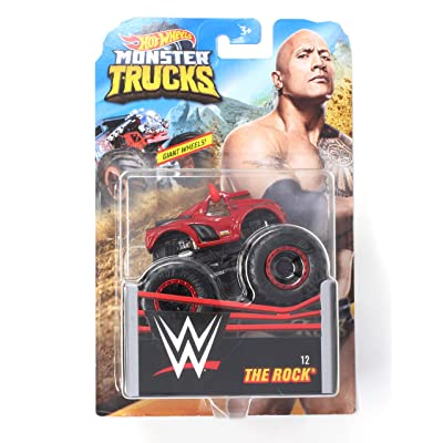 HW Monster Trucks The Rock WWE Die-cast 1/64 Scale Vehicle: Toys & Games