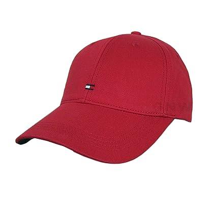 8aaaf6ec Tommy Hilfiger Men's Classic Hard TOP Baseball Cap, Golf Cap ONE Size  (Barbados Cherry): Amazon.co.uk: Clothing