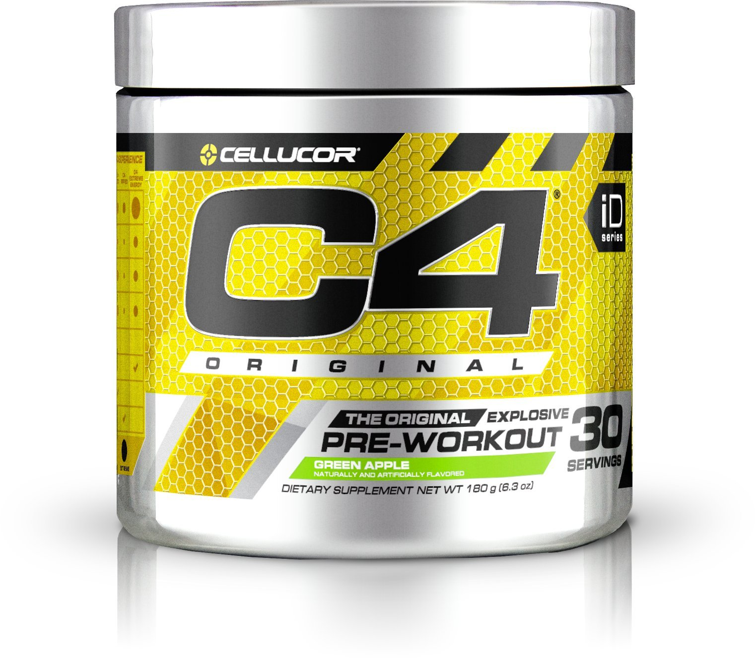 Cellucor C4 Original Pre Workout Powder Energy Drink w/ Creatine, Nitric Oxide & Beta Alanine, Green Apple, 30 Servings (6.3 ounces)