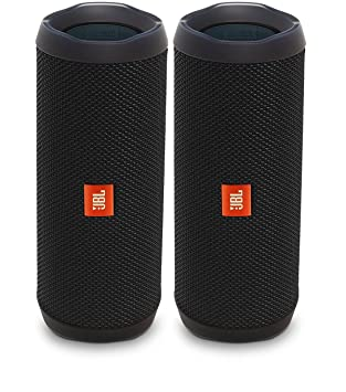 jbl bluetooth speakers amazon. jbl flip 4 waterproof portable bluetooth speaker, black (pair) jbl speakers amazon e