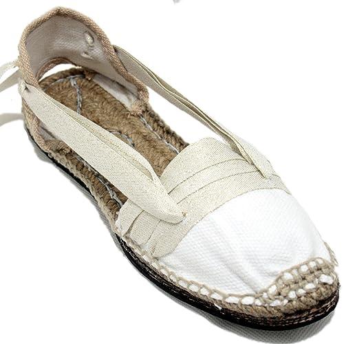 Espardenya.cat Alpargatas Tradicionales Planas Suela de Goma Diseño Tres Vetas o Tabernero Color Dorado: Amazon.es: Zapatos y complementos