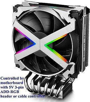 DEEP COOL Fryzen, ARGB Disipador de CPU, un PWM CPU Ventilador de ...