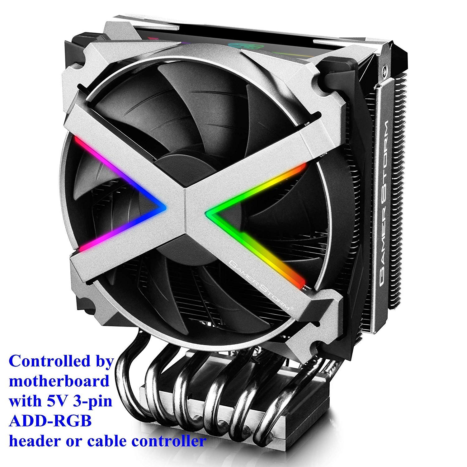 DEEPCOOL FRYZEN Air CPU Cooler for AMD TR4/AM4, Addressable RGB for Top Cover and Fan Frame with Motherboard SYNC Control, 6 Heatpipes, Premium All-Aluminum Fan Frame with Inverse Double-bladed Fan by DEEP COOL