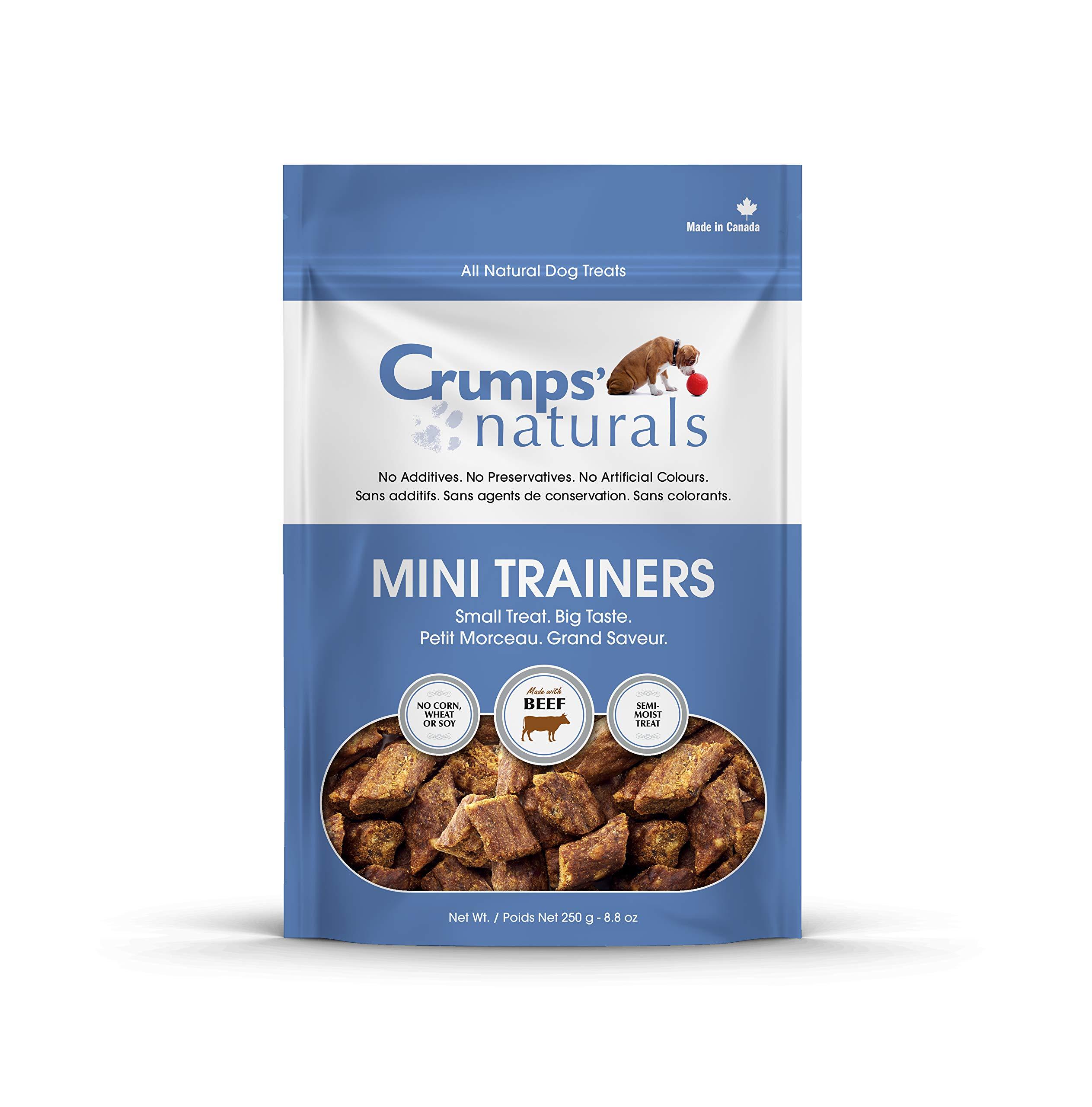 Crumps' Naturals Mt-B-250 Mini Trainers Beef (Semi-Moist) (1 Pack), 250G/8.8 Oz by Crumps' Naturals
