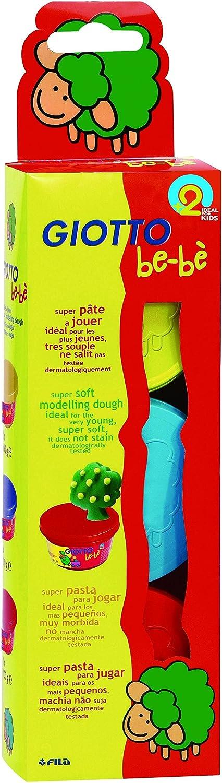 Giotto be-bè 462501 - Pack de 3 Pastas para Jugar, Multicolor