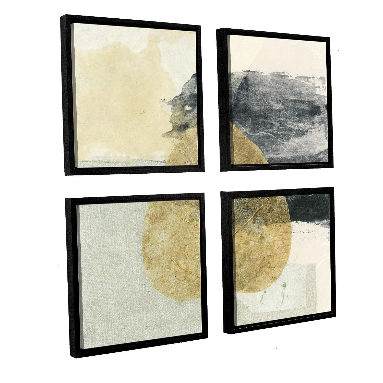 24 x 24 Multicolor ArtWall Elana Rays Wabi Sabi Bodhi Leaf Collage 3 Appealz Removable Graphic Wall Art