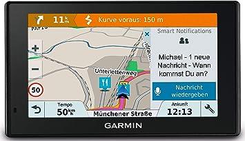 Garmin 010 01680 12 Drivesmart Navigation Device Touch Display Lifetime Map Updates Traffic Information Smart Notifications Europe Traffic Via Smartphone Link Black Navigation Car Hifi