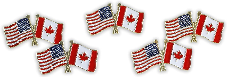 American Flag x Canada Flag Enamel Lapel Pin