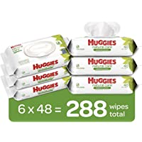 HUGGIES Natural Care Baby Wipes, 6 Packs, 288 Total Wipes