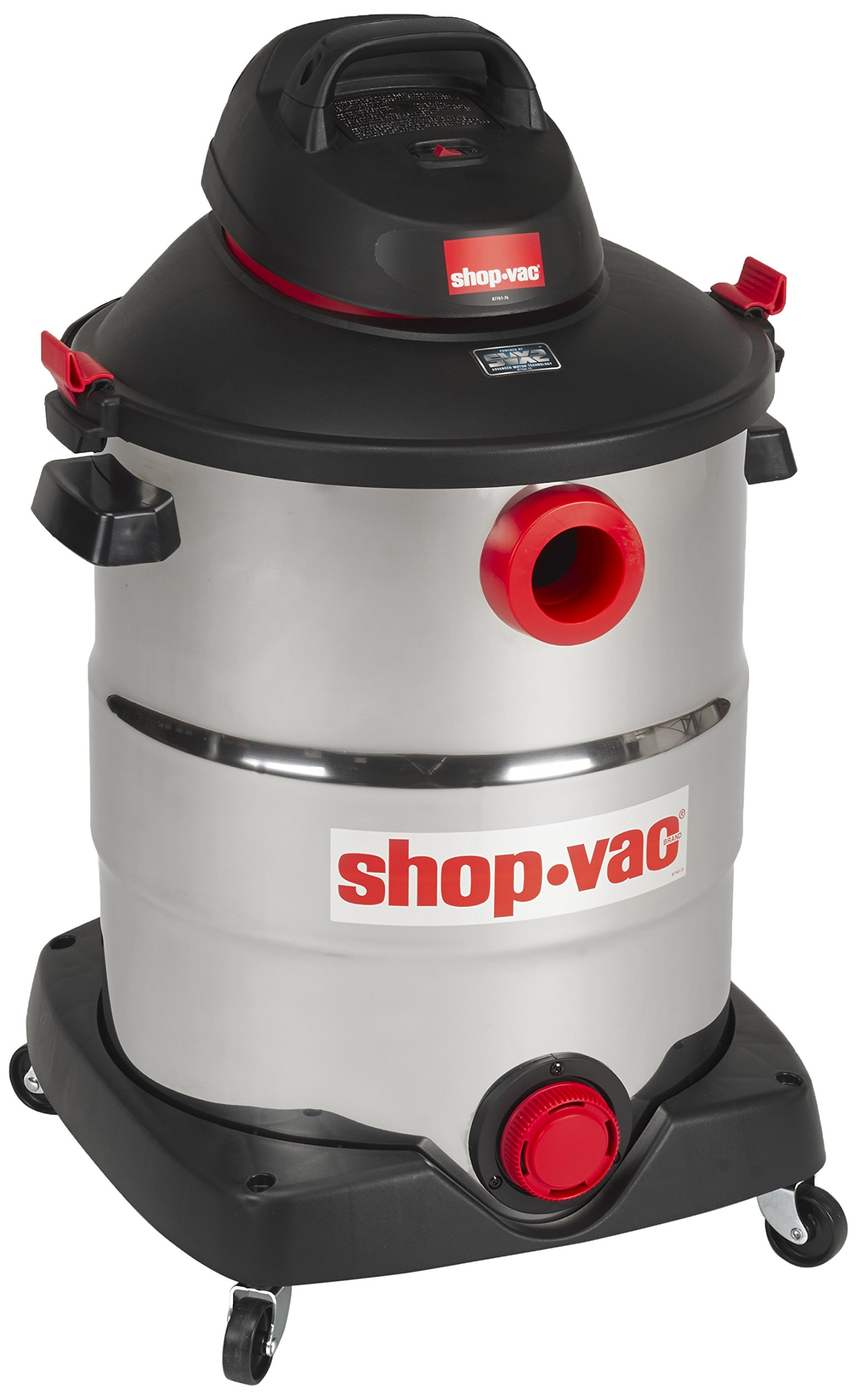 Shop-Vac 5989600 16 gallon 6.5 Peak HP Stainless Wet Dry Vacuum, Black by Shop-Vac
