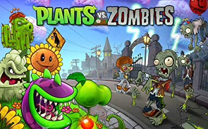 Poster Plant Vs Zombies Game 16 X 20
