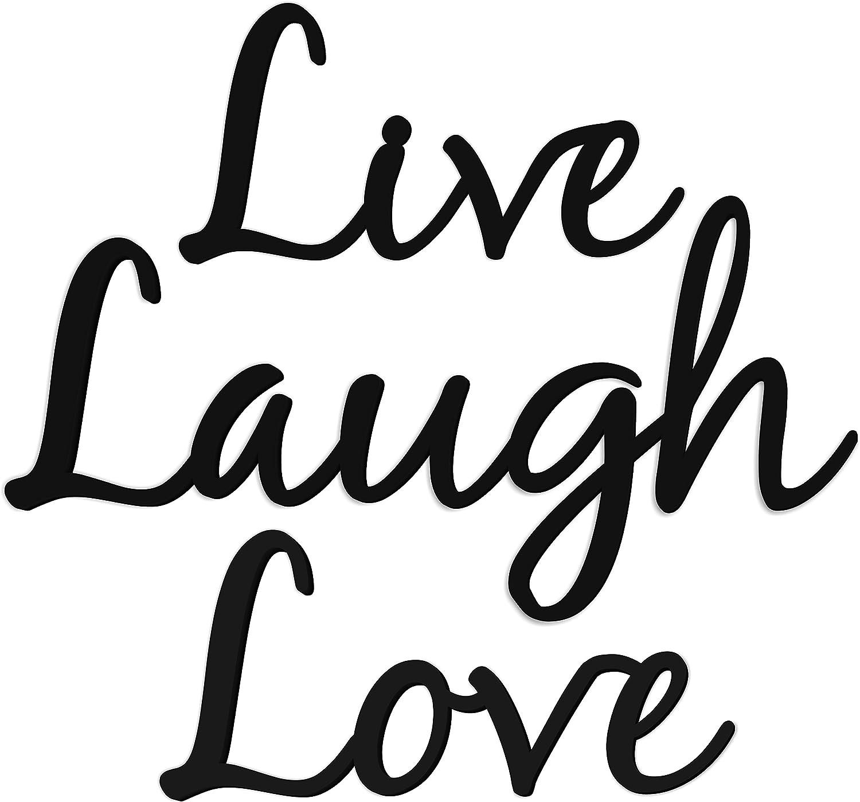 Live Laugh Love Word Art 3D Wood Cutout