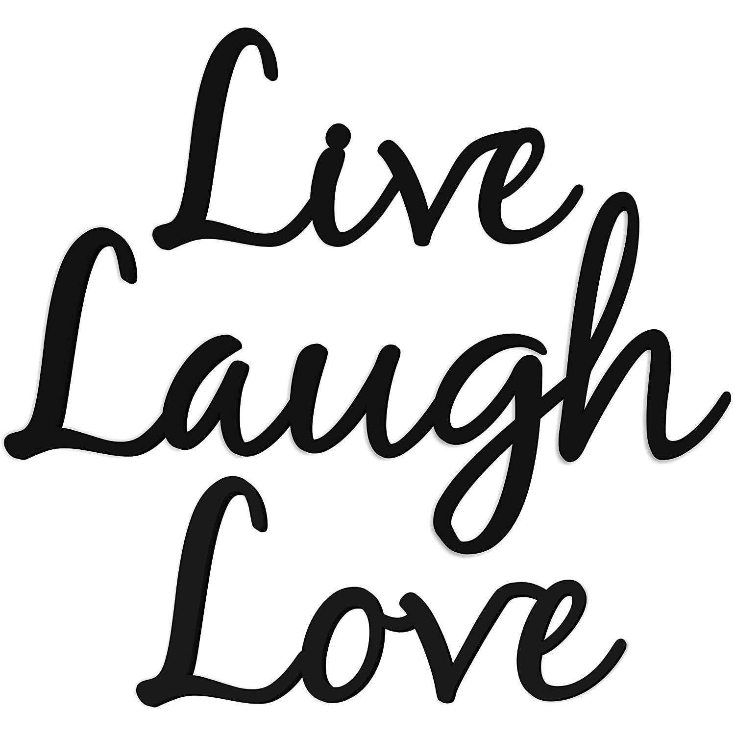 Amazon com live laugh love word art wood cutout home kitchen