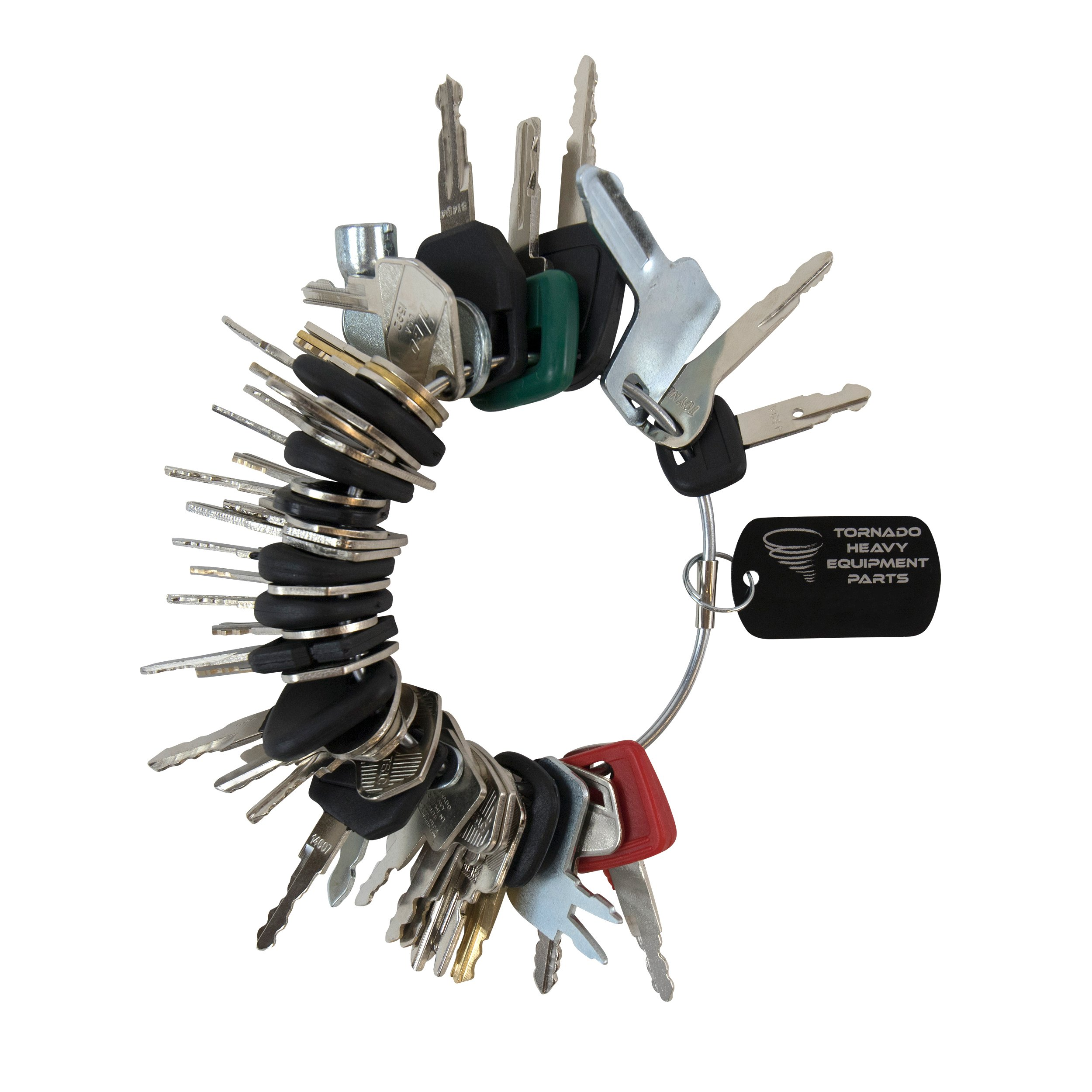 Construction Equipment Master Keys Set-Ignition Key Ring for Heavy Machines, 45 Key Set