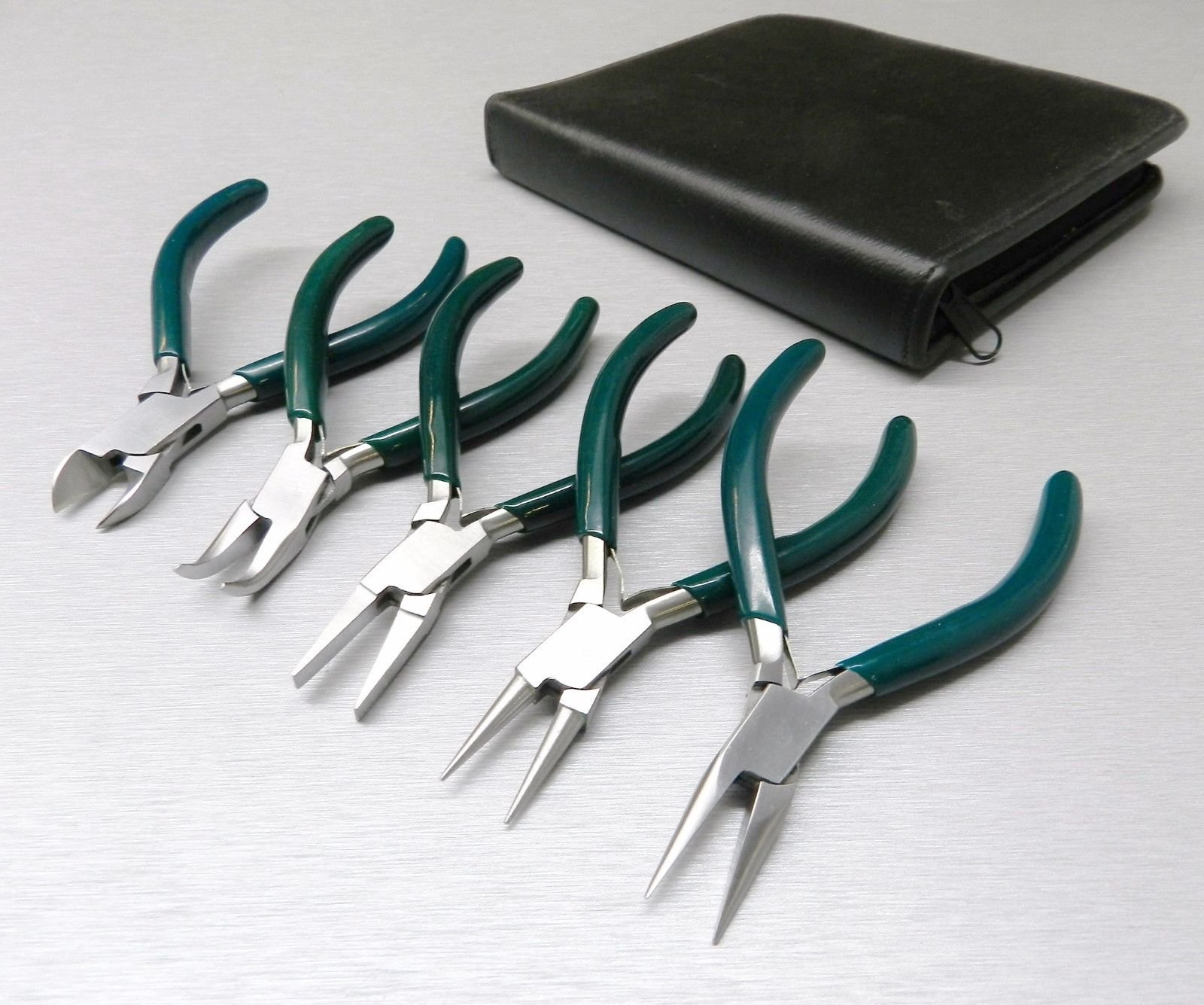 5 Pc JEWELERS PLIERS SET JEWELRY MAKING BEADING WIRE WRAPPING HOBBY 5'' PLIER KIT (LZ 1.5 FRE)