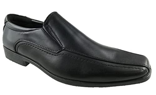 Mens Faux Leather Slip on Casual Formal Work Shoes Size UK 6-10