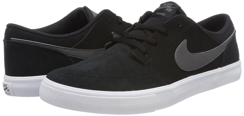 Amazon.com | Nike Mens SB Portmore II Solar Skate Shoe Black/Dark Grey/White 10 M US | Fashion Sneakers