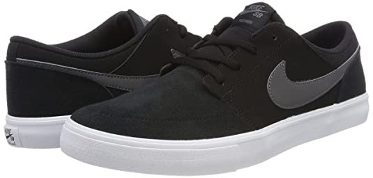 Amazon.com | Nike Mens SB Portmore II Solar Skate Shoe Black/Dark Grey/White 10 M US | Fashion Sneakers