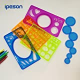 Ipeson Children Drawing Set, Spiral Graph Drawing Set,Artist Studio go go Gear art ,Creative Drawing Classic Educational toys For Adults and Kids