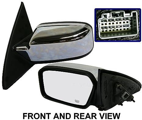 Passenger Side Mirror For Lincoln MKZ 07-10 Chrome