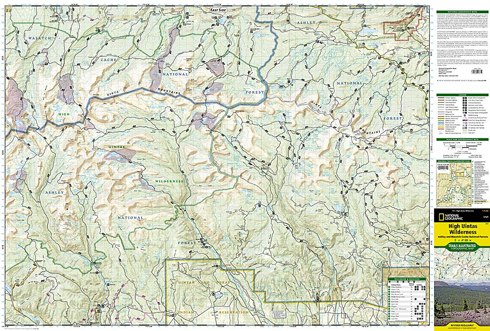 High Uintas Wilderness Map: National Geographic Maps ...