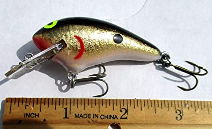 Amazon com : Strike 1ct Black Gold SHAD 2 5''CoffinBill Crankbait