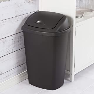 product image for Sterilite 10889004 13.2 Gallon/50 Liter SwingTop Wastebasket, Black, 4-Pack