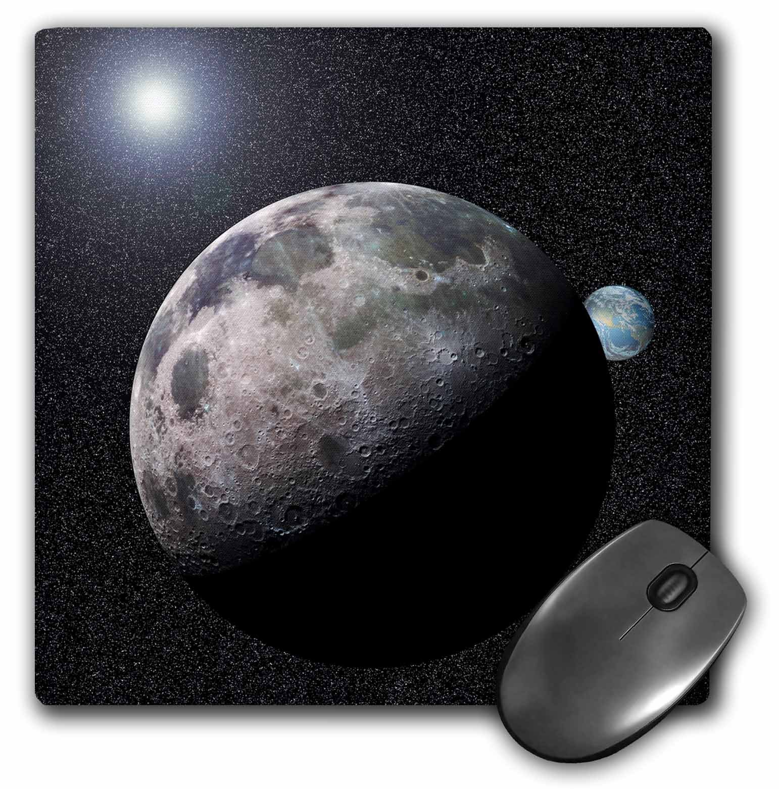 3dRose LLC 8 x 8 x 0.25 Inches Mouse Pad, Moon Dance Solar System (mp_19949_1)