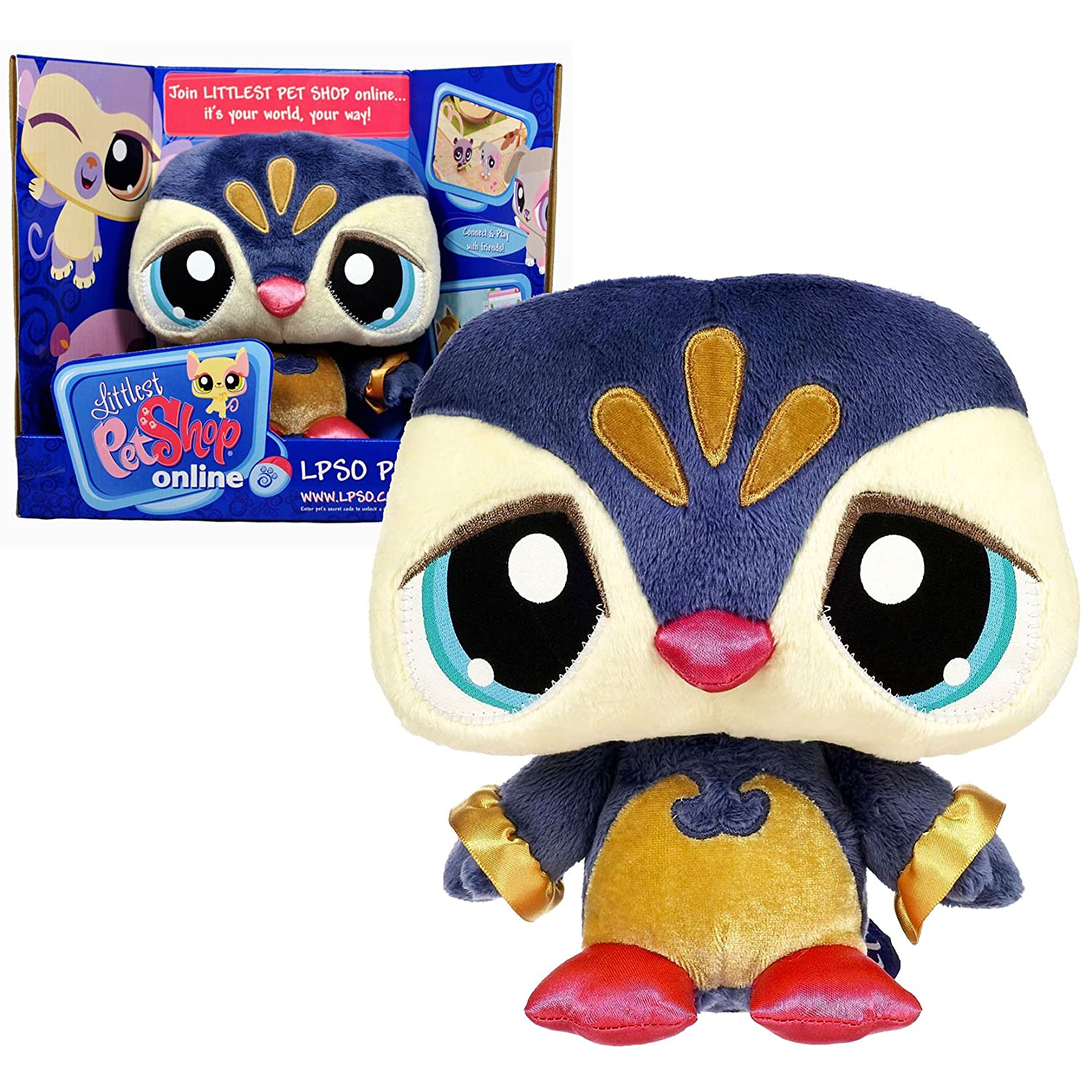 Littlest Pet Shop Online LPSO Pets Series 7 Inch Tall Plush Figure with Code to Unlock the Virtual World and Online B009OX92YE