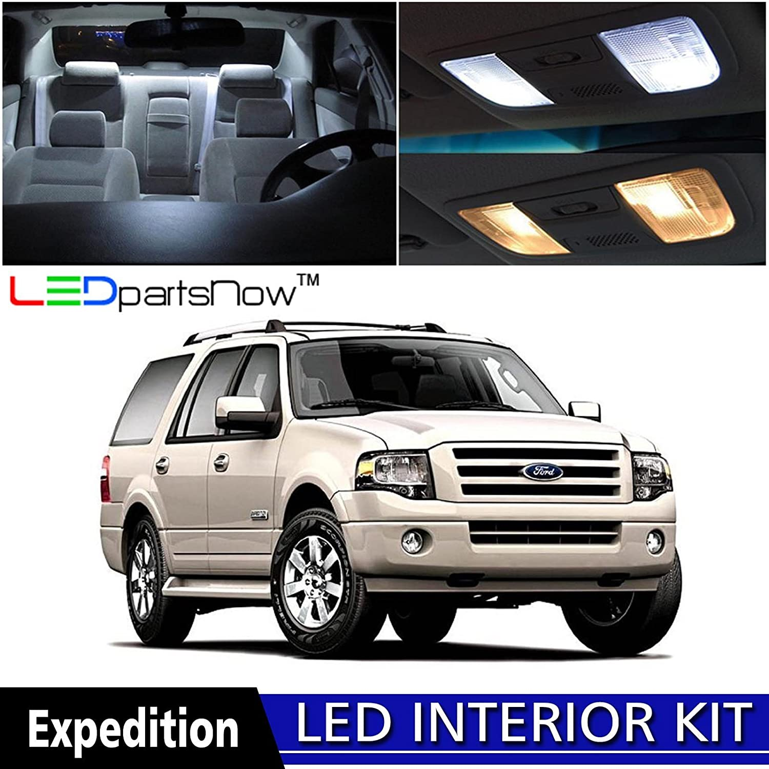 81l%2BQOwe6WL._SL1500_ amazon com ledpartsnow 2003 2013 ford expedition led interior 2004 Ford Expedition Exhaust Schematic at eliteediting.co