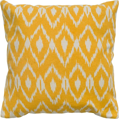 Rizzy Home T05012 Decorative Pillow, 18 X18 , Yellow