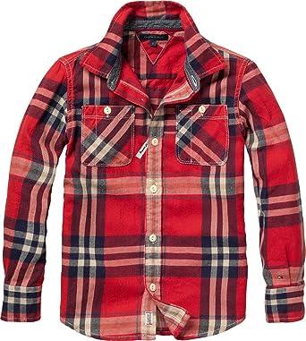Tommy Hilfiger Dover Check - Camisa a Cuadros de Manga Larga ...