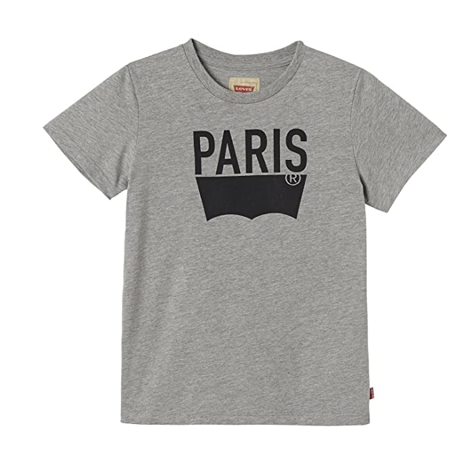 Levis SS tee Paris, Camiseta para Niños, Gris (Gris Chiné 20),
