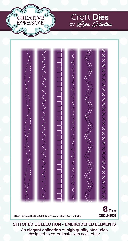 Creative Expressions Set von Formen 25,5/x 13,5 silber